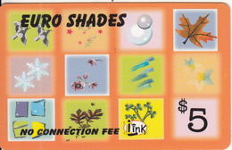 CANADA - Euro Shades, MCI Prepaid Card $5(416-848-6398, White Reverse), Used - Canada