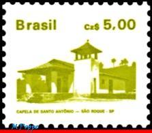 Ref. BR-2067 BRAZIL 1986 ARCHITECTURE, HISTORIC & ART HERITAGE,, 1987, ST. ANTHONYÂ'S CHAPEL, SP, MNH 1V Sc# 2067 - Brésil