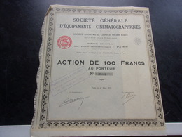 EQUIPEMENTS CINEMATOGRAPHIQUES (1931) - Actions & Titres