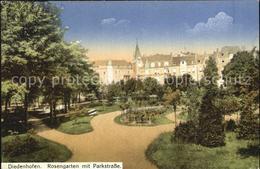 12546077 Diedenhofen Rosengarten Mit Parkstrasse Thionville - Thionville