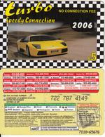 CANADA - Car, Turbo 2006, MCI Prepaid Card $5(416-848-4000, Yellow Reverse), Used - Canada