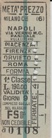 Biglietto Treno -  Milano - Napoli (Fascetto) - Railway