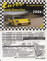 CANADA - Car, Turbo 2006, MCI Prepaid Card $5(416-848-6887, White Reverse), Used - Canada
