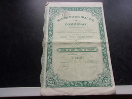 MINES D'ANTHRACITE DE COMMUNAY (isere) 1910 - Actions & Titres