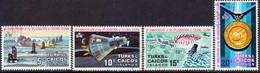 TURKS AND CAICOS ISLANDS 1972 SG #361-64 Compl.set Used Colonel Glenn's Splashdown - Turks And Caicos