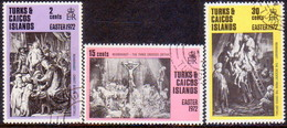 TURKS AND CAICOS ISLANDS 1972 SG #365-67 Compl.set Used Easter - Turks And Caicos