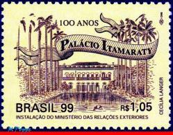 Ref. BR-2731 BRAZIL 1999 ARCHITECTURE, ITAMARATY PALACE, RIO,, MI# 2988, MNH 1V Sc# 2731 - Castles