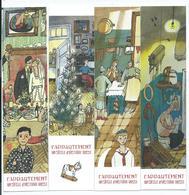 """MARQUE PAGES ( LOT DE 4) L'appartement, Un Siècle D'histoire Russe """" LIBRAIRIE DU GLOBE, PARIS ( Voir Le Verso Des 4 MP) - Marque-Pages"""