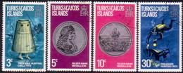 TURKS AND CAICOS ISLANDS 1973 SG #374-77 Compl.set Used Treasure - Turks And Caicos