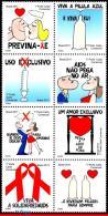 Ref. BR-3206 BRAZIL 2011 HEALTH, AIDS PREVENTION CAMPAIGNS, , MNH 8V Sc# 3206 - Brazil