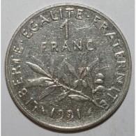 GADOURY 474 - 1 FRANC 1991 TYPE SEMEUSE - TTB - KM 925.1 - France
