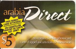 CANADA - Arabia Direct Prepaid Card $5, Used - Canada
