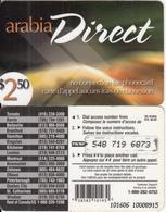 CANADA - Arabia Direct Prepaid Card $2.50, Used - Canada