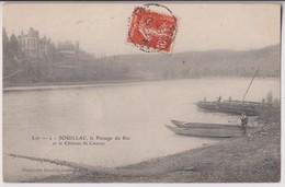 SOUILLAC (46) : LE PASSAGE DU BAC ET LE CHATEAU DE CIEURAC - ECRITE EN 1907 - 2 SCANS - - Souillac