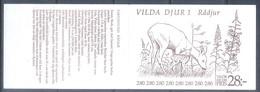 G358- Sweden Booklet 1992 Wild Animals. - Unused Stamps
