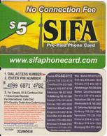 CANADA - SIFA Prepaid Card $5, Used - Canada