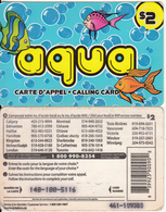 CANADA - Fish, Aqua By Intelco Prepaid Card $2, Used - Canada