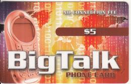 CANADA - Big Talk Prepaid Card $5, Used - Canada