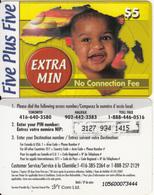 CANADA - Five Plus Five Prepaid Card $5, Used - Canada