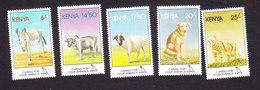 Kenya, Scott #637-641, Mint Hinged, SPCA, Issued 1995 - Kenya (1963-...)