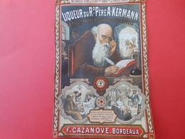 Grand Chromo Publicitaire/ Liqueur Du Révérend Pére A Kermann/ F Cazanove/BORDEAUX/  Vers 1895   CHRO73 - Chromos