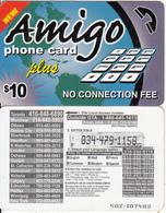 CANADA - Latino, Amigo Prepaid Card $10, Used - Canada