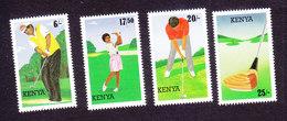 Kenya, Scott #642-645, Mint Hinged, Golf, Issued 1995 - Kenya (1963-...)