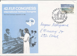 Denmark Cover With Speciel Postmark And Cachet 10-9-1982 42. F.I.P. Congress International Farmaci Congress F.I.P. 82 - Pharmacy