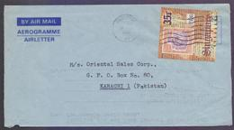 SINGAPORE Postal History - Aerogramme Used 1980 With Stamp On Stamps - Singapore (1959-...)