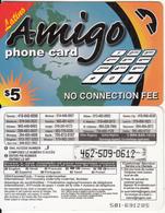 CANADA - Latino, Amigo Prepaid Card $5, Used - Canada