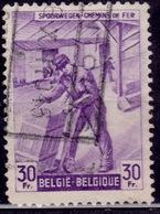 Belgium 1946, Railway Worker, 30fr, , Sc#Q288, Used - Railway