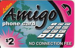 CANADA - Latino, Amigo Prepaid Card $2, Used - Canada