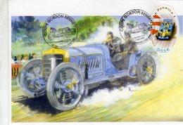 France  -  Coupe Gordon Bennett  -  La Formule 1  -   FDC  -  Envelope Premier Jour - Cars