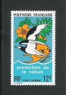 POLINESIA FRANCESE-1974: Valore Nuovo S.t.l. Da 12 F. Di P.A. - PROTEZIONE DELLA NATURA - In Buone Condizioni. - Posta Aerea