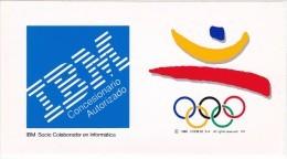 PEGATINA DE IBM DE BARCELONA'92    (ADHESIVO) OLIMPIADA BARCELONA'92 - OLIMPIC GAMES - Pegatinas