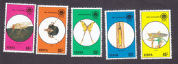 Kenya, Scott #655-659, Mint Hinged, Insects, Issued 1995 - Kenya (1963-...)