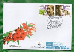 1629 A  URUGUAY-2018- FDC ONU Mujeres-Día Intern. De  La Mujer-TT: Campo, Género - Uruguay