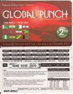 CANADA - Global Punch Prepaid Card $2.50, Used - Canada