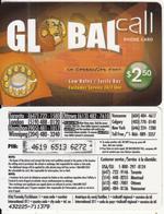 CANADA - Global Call Prepaid Card $2.50, Used - Canada