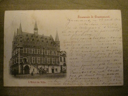 Cpa Grammont Geraardsbergen - Souvenir De Grammont - L'hotel De Ville - 1902 - Geraardsbergen