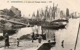29. CPA CONCARNEAU. Le Quai Du Passage Lauriec, Bateaux, - Concarneau