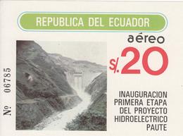 1983 Ecuador Hydro Dam Electricity  Souvenir Sheet  MNH - Ecuador