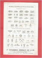 INSIGNES ET ECUSSONS DES SPECIALITES MILITAIRES ECUSSON DE COLLET ET INSIGNES DE MANCHE 1918 - Army