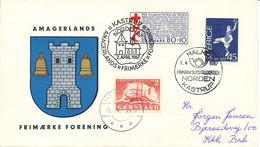 Denmark - Greenland - Sweden Cover With Stamps From All 3 Countries Stampexhibition NORDEN In Malmö Sweden - Briefmarkenausstellungen