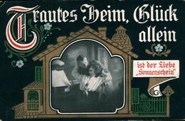 REVE TRAUTES HEIM GLUCK ALLEIN  Superbe Carte De 1917 - Humoristiques