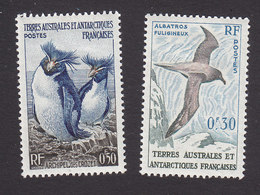 French Southern And Antarctic Territory, Scott #2, 12, Mint Hinged, Rockhoppers, Albatross, Issued 1956-59 - Unused Stamps