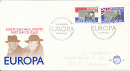 Netherlands FDC 23-9-1980 EUROPA CEPT Complete With Cachet - Europa-CEPT