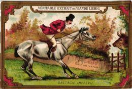 0169 Poor Horsemanship, Cavaliers De Dimanche C1886 Liebig 169 Set Complete 6 Chromo Litho French Edition - Liebig