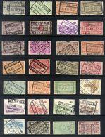Y54 - Belgium - Railway Parcel Stamps - Used Lot - Chemins De Fer