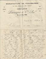 TOURS CONSTANTIN MANUFACTURE DE CHAUSSURES A LA GRACE DE DIEU  LAVERGNE ANNEE 1903 - Non Classés